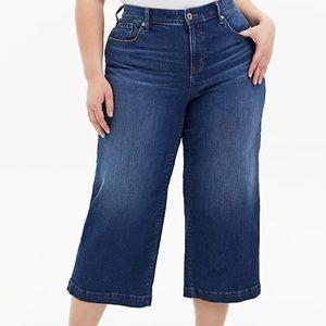TORRID crop high rise wide leg vintage jeans!